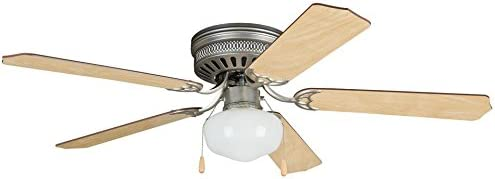 Craftmade Ceiling Fan with Light CC52BP5C1, Celeste Brushed Pewter 52 Inch