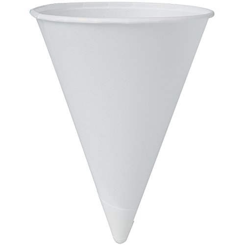 Solo 42BR-2050 4.25 oz White Paper Cone Cups (Case of 5000) ()