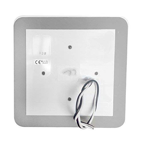 Dream Lighting 12volt DC LED Square Acrylic Ceiling Panel Light with Switch for RV Camper Trailer Boat Cabin Roof Dome Light, Interior Lighting Fixture - Surface Mounted, Cool White & Blue Lighting