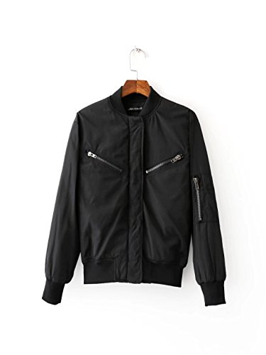 Lsm-Jacket Women's Regular Short Down Jacket Thickened Loose Cotton Coat Black