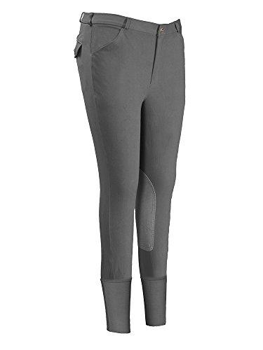 Mens Riding Breeches - TuffRider Men's Patrol Knee Patch Breeches (Regular), Charcoal, 36