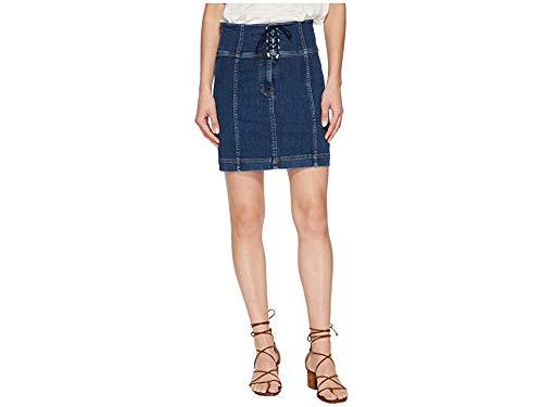 Free People Modern Femme Corset Skirt Blue 8