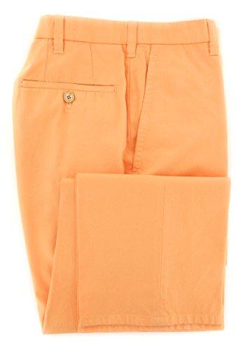 cesare-attolini-orange-solid-pants-slim-38-54