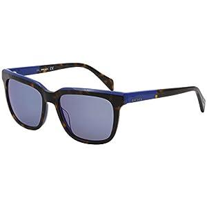 Sunglasses Diesel DL 224 DL 0224 56X havana/other / blu mirror
