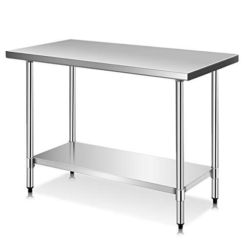 (Giantex Stainless Steel Work Prep Table Commercial Kitchen Restaurant (24