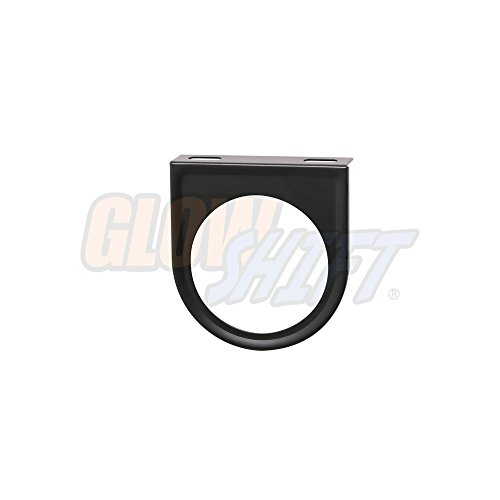 GlowShift Universal Black Single Gauge Mounting Bracket Pod - Fits Any Make/Model - Mounts (1) 2-1/16