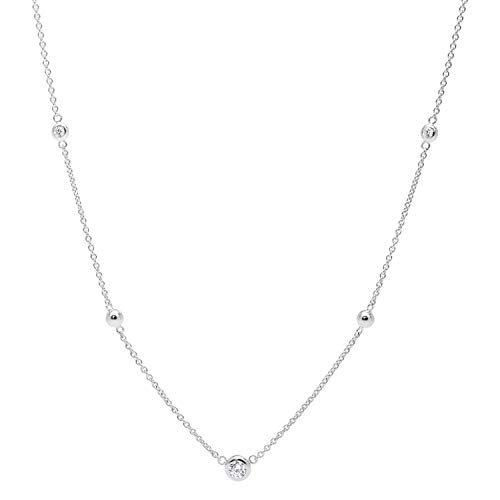Fossil Women's Glitz Sterling Silver Necklace Box Set, Silver, One Size
