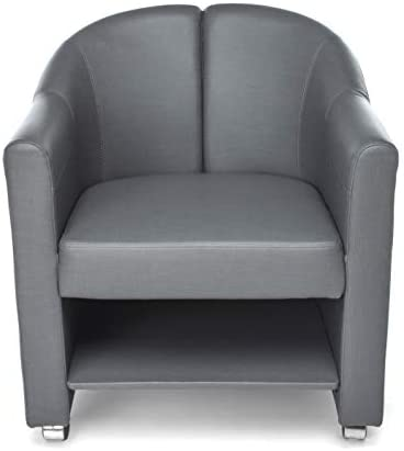OFM Core Collection Mobile Club Chair, in Slate