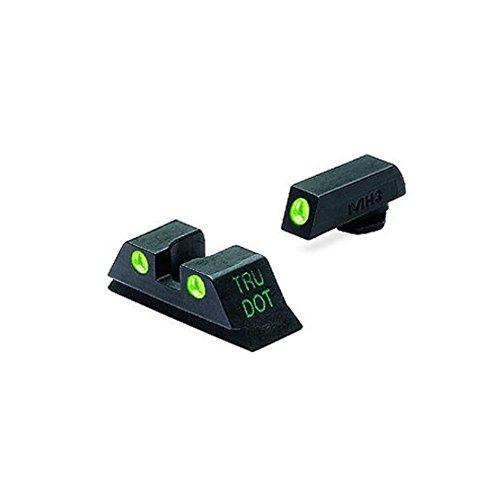 Meprolight Tru-Dot Sight Set For Glock 10mm And 45ACP Green Front / Green -