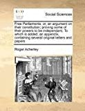 Free Parliaments, Roger Acherley, 1171188501