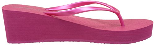 O'Neill Fw Wedge Flipflop - Chanclas Mujer Pink (Beetroot Purple)