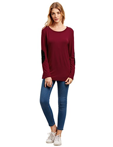 ROMWE Womens Loose Sleeve T Shirt