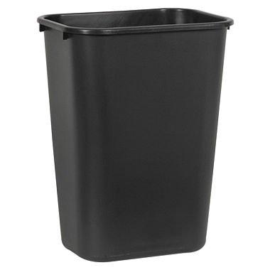Boardwalk 41QTWBBLA Soft-Sided Wastebasket, 41 qt, Plastic, Black (Wastebasket Plastic)