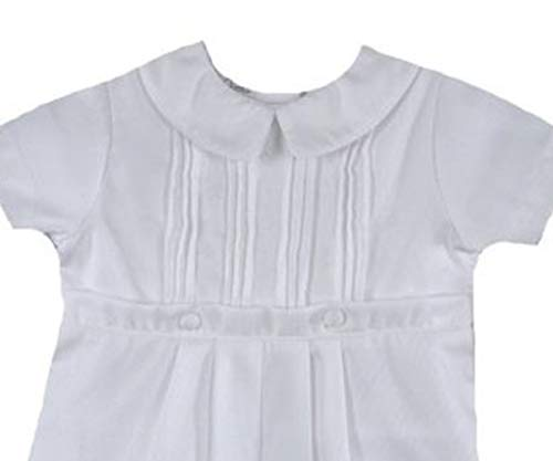 Baby Boys Rompers Pique Christening Baptism Knickers and Hat (12 Months) White by Baby Jett Setters (Image #2)