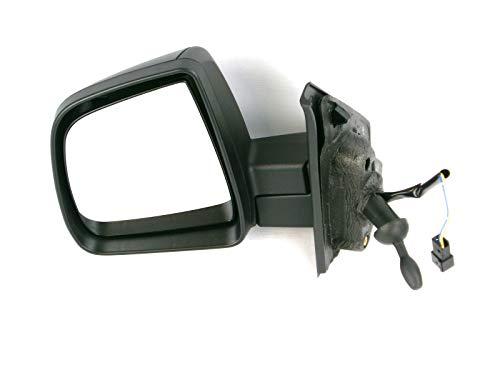 Fiat Doblo Mk2 Van 2010-2015 Door Mirror Electric Temp Black O//S Driver Right