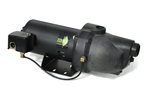 ECO-FLO Products EFSWJ10P Shallow Water Well Jet Pump, 1 HP, 17.3 GPM (1 2 Hp Shallow Well Water Pump)
