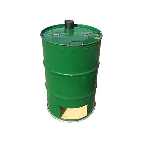 【塗装無】 緑 ドラム缶焼却炉 煙突無 200L 焼却炉 納期3週間 代不 B01N396D93 17500
