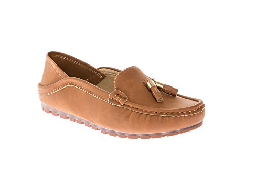 Women's Flats Leather Comfort Casual Moccasins Accent Slipper Slip Carmel Tassel Nubuck KIKI Loafers on CALICO 5TIqcwOw