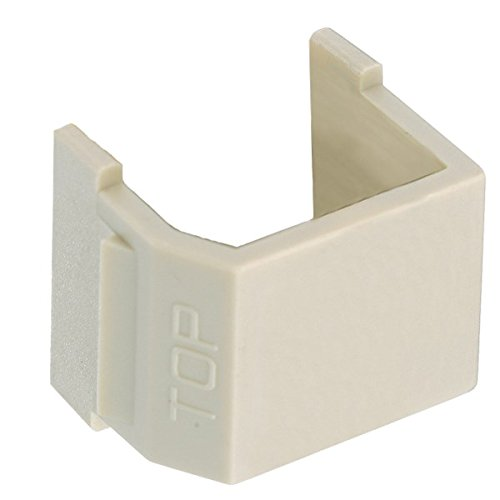 - Hubbell Wiring Systems SFSBEI10 tradeSELECT Blank Insert for Audio/Video Recessed Connectors, Ivory (Pack of 10)