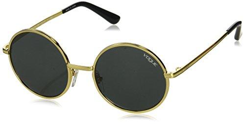 Vogue Women's Metal Woman Round Sunglasses, Gold, 50 mm