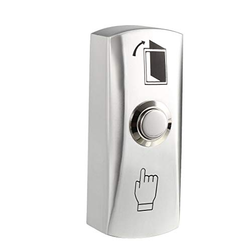 uxcell Door Release Button Push to Exit Resettable NO/COM Switch for Access Control 82mmx32mm Panel Zinc Alloy 12V 3A