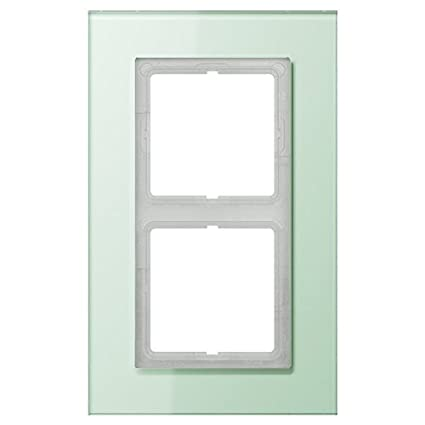 Jung ls plus - Marco embellecedor doble 115x186mm cristal