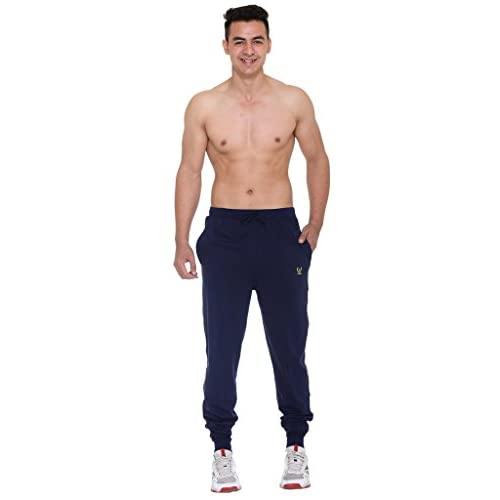 31P5iS%2B94KL. SS500  - VIMAL JONNEY Men's Navy Blue Cotton Trackpants-D8NAVY-P