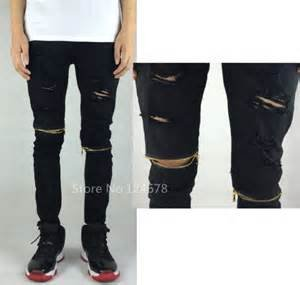 Amazon.com : Skinny Ripped Jeans for Men Distressed Biker kanye