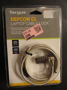 Defcon Cable Lock - Targus DEFCON CL Notebook Computer Cable Lock