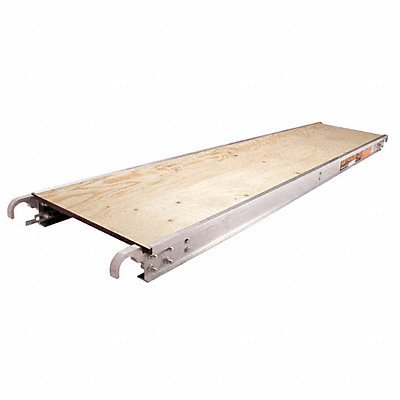 Metaltech M-MPP719 7 Ft. x Aluminum Scaffold Platform with Plywood Deck, 7' x 19''