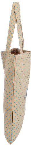 Adelheid Nachtschwärmerin Standard Henkeltasche - Bolso de mano de lana mujer multicolor - Mehrfarbig (beige türkis gepunktet 350)