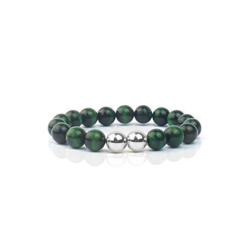 Tiger Eye Gemstone Charm - Shinus Bracelet Mens Women Mala Beads Boho Chakra Tiger's Eye Charm Energy Gemstone Fashion Meditation