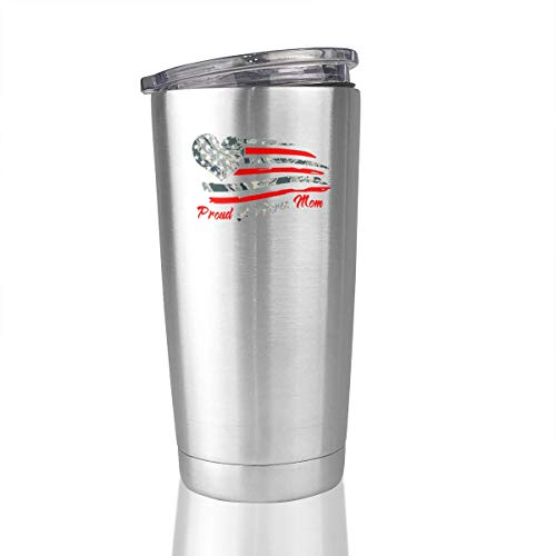 Proud Air Force Mom 20 Oz Stainless Steel Tumbler Vacuum Insulated Travel Mug Simple Modern -