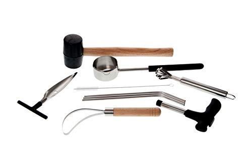 - Draysvet Coconut Opener Tool Set Complete 10 Piece for Young Coconut Opening with Rubber Mallet