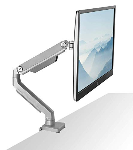 Mount-It! Single Monitor Arm Desk Mount, Height Adjustable VESA Monitor Stand for Computer Screens 19, 20, 21, 24, 27, 29, 30, 32 Inches