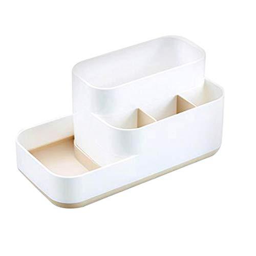 Kecar Cosmetic Storage Basket - Desktop Office Storage Organizer Storage Rack - Creative Three-Layer Makeup Desk Office Supply Organizer (Gray) ()