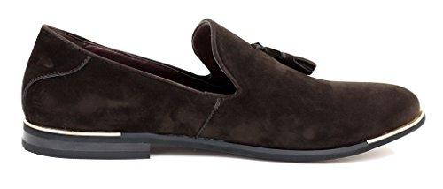 JAS Homme Glands à Chaussures Café Enfiler Design Mocassins à Daim rAdqwrxB6
