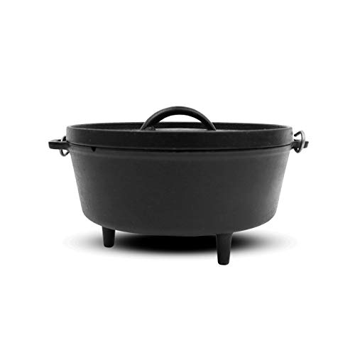 """14"""" Cast Iron Dutch Oven with Lid, Black - Pit Boss 68011"""