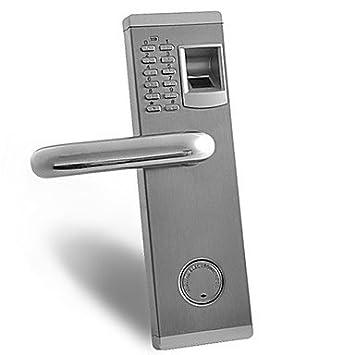 Premium huellas dactilares biométricas y contraseña cerradura para puerta con cerrojo