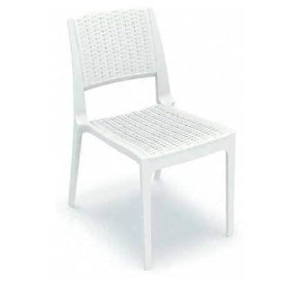 Strange Amazon Com Compamia Verona Chair Set Of 2 White Ibusinesslaw Wood Chair Design Ideas Ibusinesslaworg