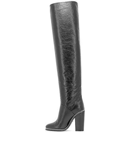 Femme Balmain W8fc331pgod176 Bottes Cuir Noir nX6CwT6