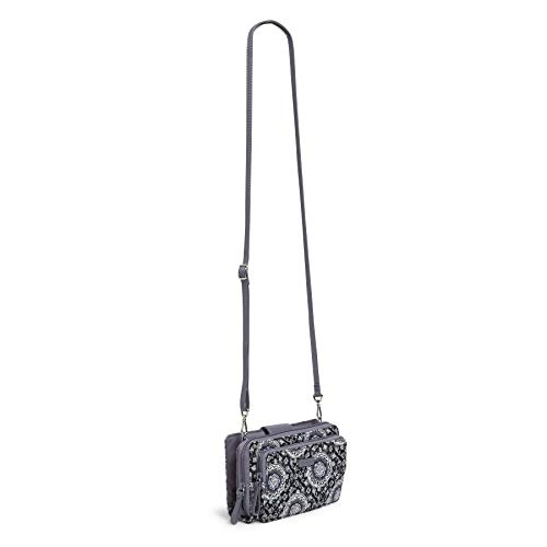 Vera Bradley Iconic Deluxe All Together Crossbody, Signature Cotton, Charcoal Medallion