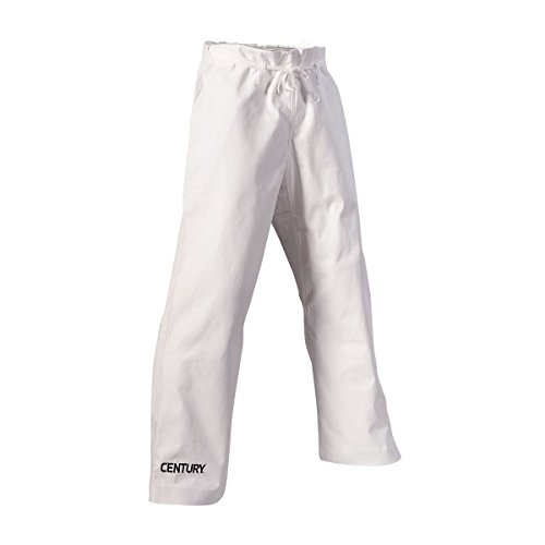 Century Martial Arts 10 oz. Middleweight Brushed Cotton Traditional Waist Pants with Pockets ()