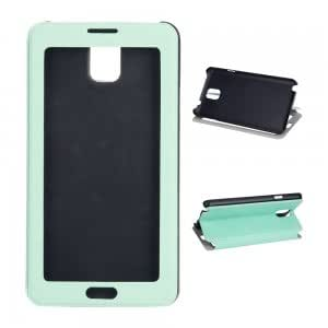 PU Leather and Plastic Touch Screen Protective Case for Samsung Note3 Green