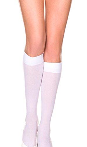 Std Size Women (8 1/2-11 Sock Size) White Versatile Nylon Knee High (Knee High Womens Costumes)