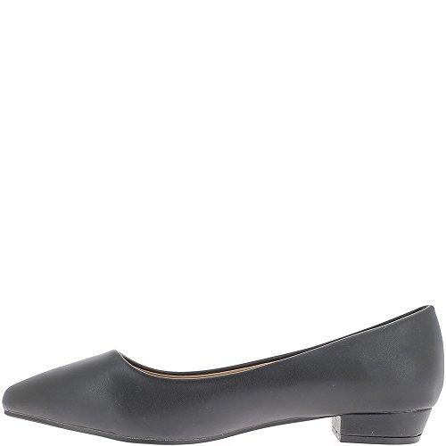 Talón negro de 2,5 cm de tamaño grande los zapatos
