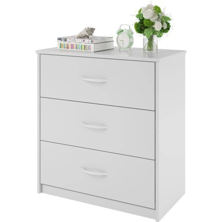 Mainstay 3 Drawer Dresser, Multiple Colors (White)