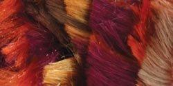 Boa Scarf Pattern (Bernat  Boa Yarn- 3.5 oz - Orange Burgundy   -  Fun Party Yarn  For Crochet, Knitting & Crafting)