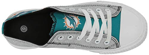 f869f451 FOCO NFL Womens Glitter Low Top Canvas Shoes - Import It All