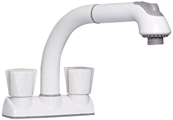 CLEANFLO 481 Pull Out Laundry Faucet 3 Hole Installation High 8